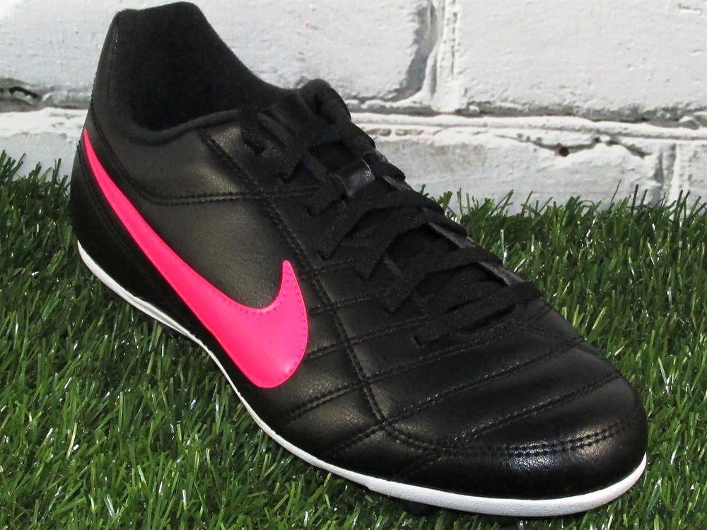 Girls nike jr chaser fgr soccer cleats size 55y black
