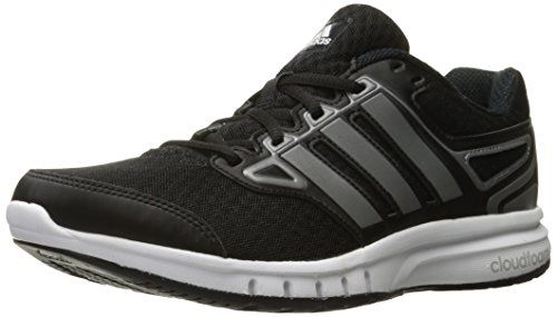 adidas Performance Mens Galactic Elite M Running Shoe Black/Iron Metallic/ White M US