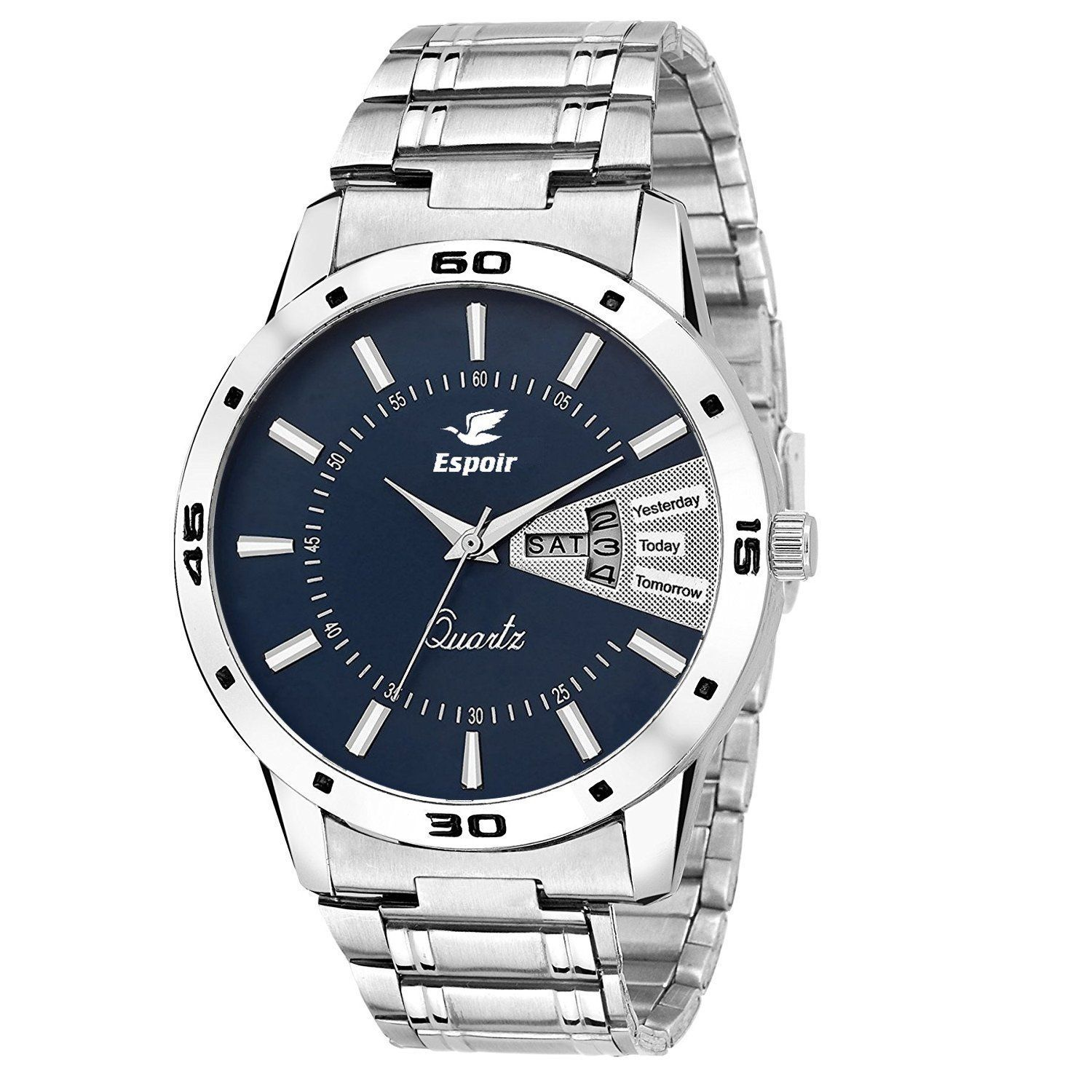 64476df1479 Buy Espoir Analogue Blue Dial Men s Watch- ESP12457 Online at Low Prices in  India - Amazon.in