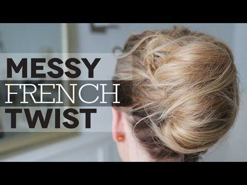 messy french twist, nice tutorial