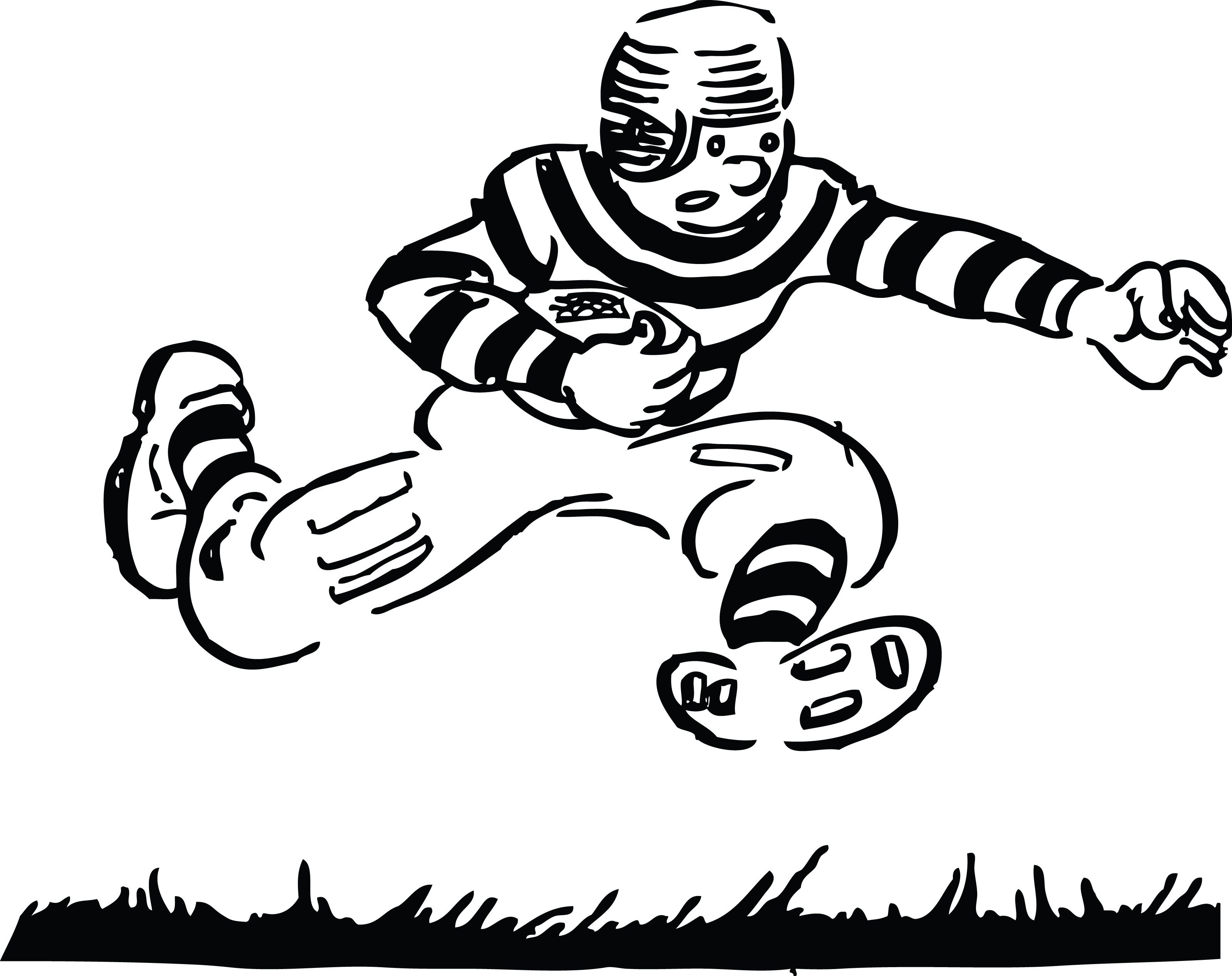 Free Black And White Football Clipart Download Free Clip Art Free Throughout Children Playing Footbal Black And White Football Football Kids Playing Football