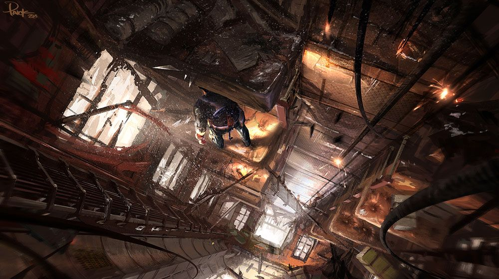 Hanging Train Car From Uncharted 2 Among Thieves Art Conceptuel Image Fantastique Images