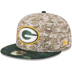 9c25803b8 Men s Green Bay Packers New Era Camo 2015 Salute to Service On-Field  59FIFTY Fitted Hat