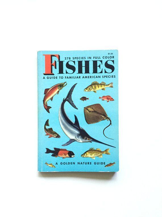 Vintage Golden Nature Guide: Fishes  #bertram #bergamot #etsy #vintage #book #homeschool #golden #nature #guide #fieldguide #fishes #fish #biology
