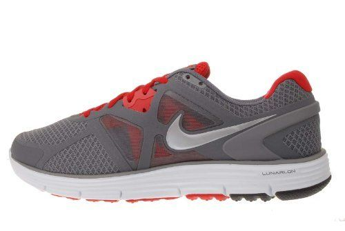 check out ab3ae 822aa Nike Lunarglide 3 Grey Red Mens Lightweight Running Shoes ...
