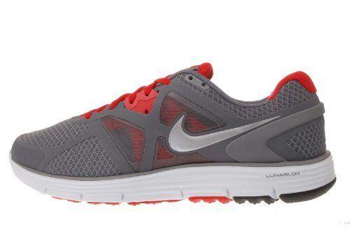 check out d13d7 bbaaa Nike Lunarglide 3 Grey Red Mens Lightweight Running Shoes ...