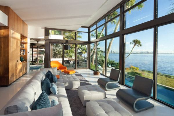 Glass Front Residence on the Water in Coral Gables | Miami ...