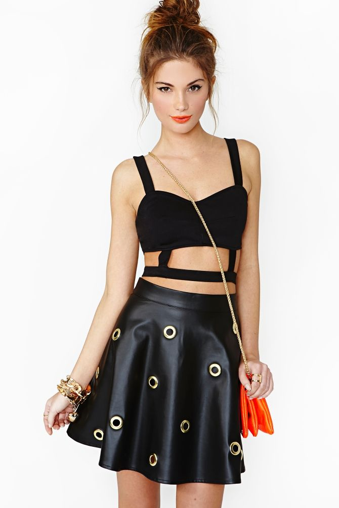 Revolver Skirt. Not my normal style, but definitely something I can see myself doing with leather.
