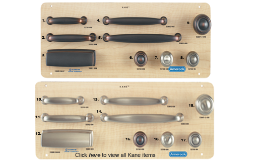 berenson inc decorative hardware amerock kane 1 collection - Amerock Hardware
