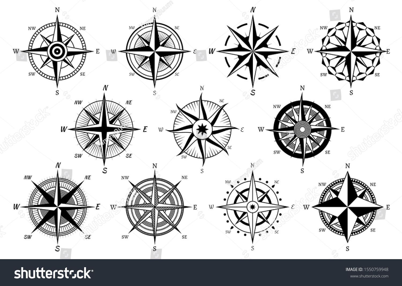 Wind Rose Marine Wind Roses Compass Nautical Navigation Sailing