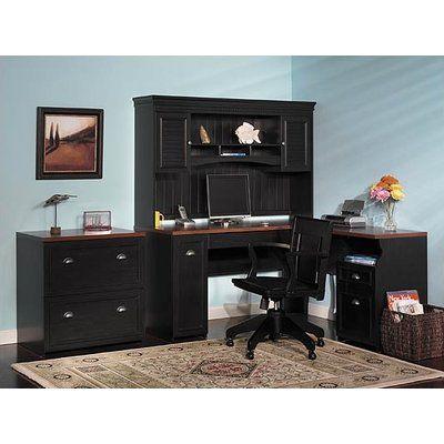 Beachcrest Home Oakridge 3 Piece L Shape Desk Office Suite Home