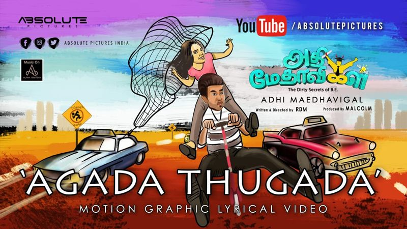 """ Agada Thugada "" Remix Motion Graphic Lyrical Video  – Adhi Maedhavigal"