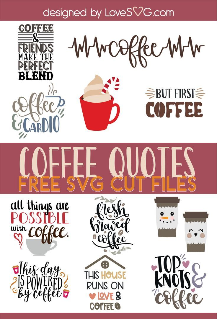 Free SVG files - Coffee and Tea | Lovesvg.com