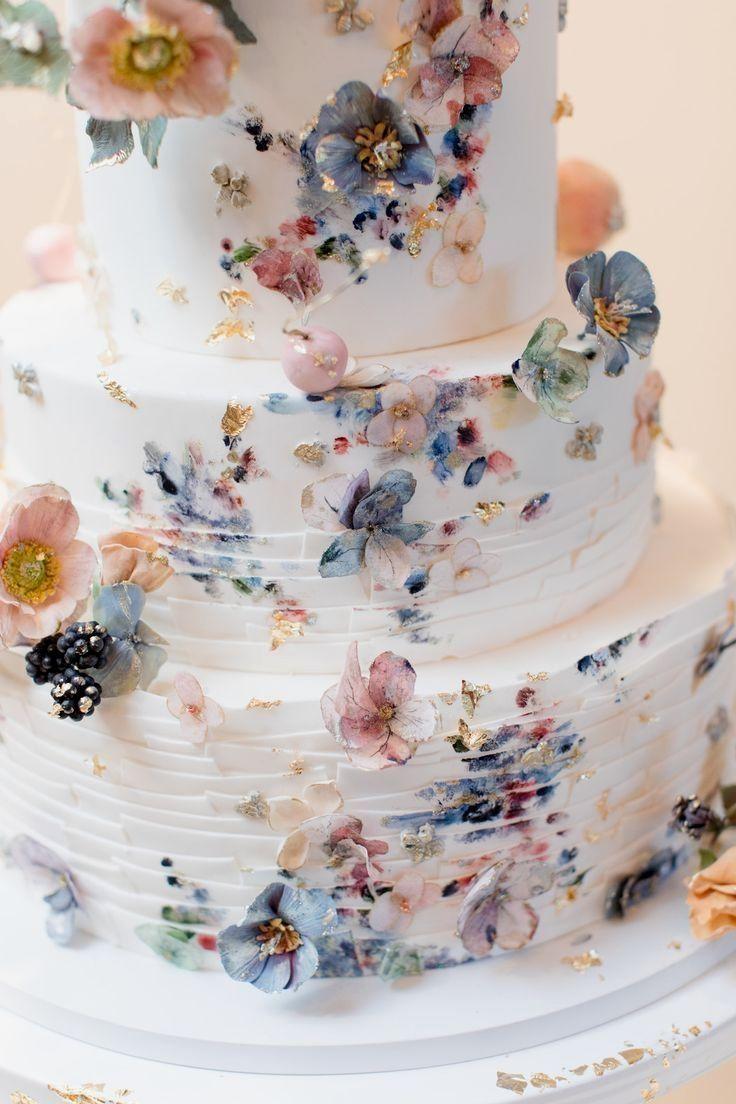 Gâteau de mariage rustique incroyable douche nuptiale - Gâteau