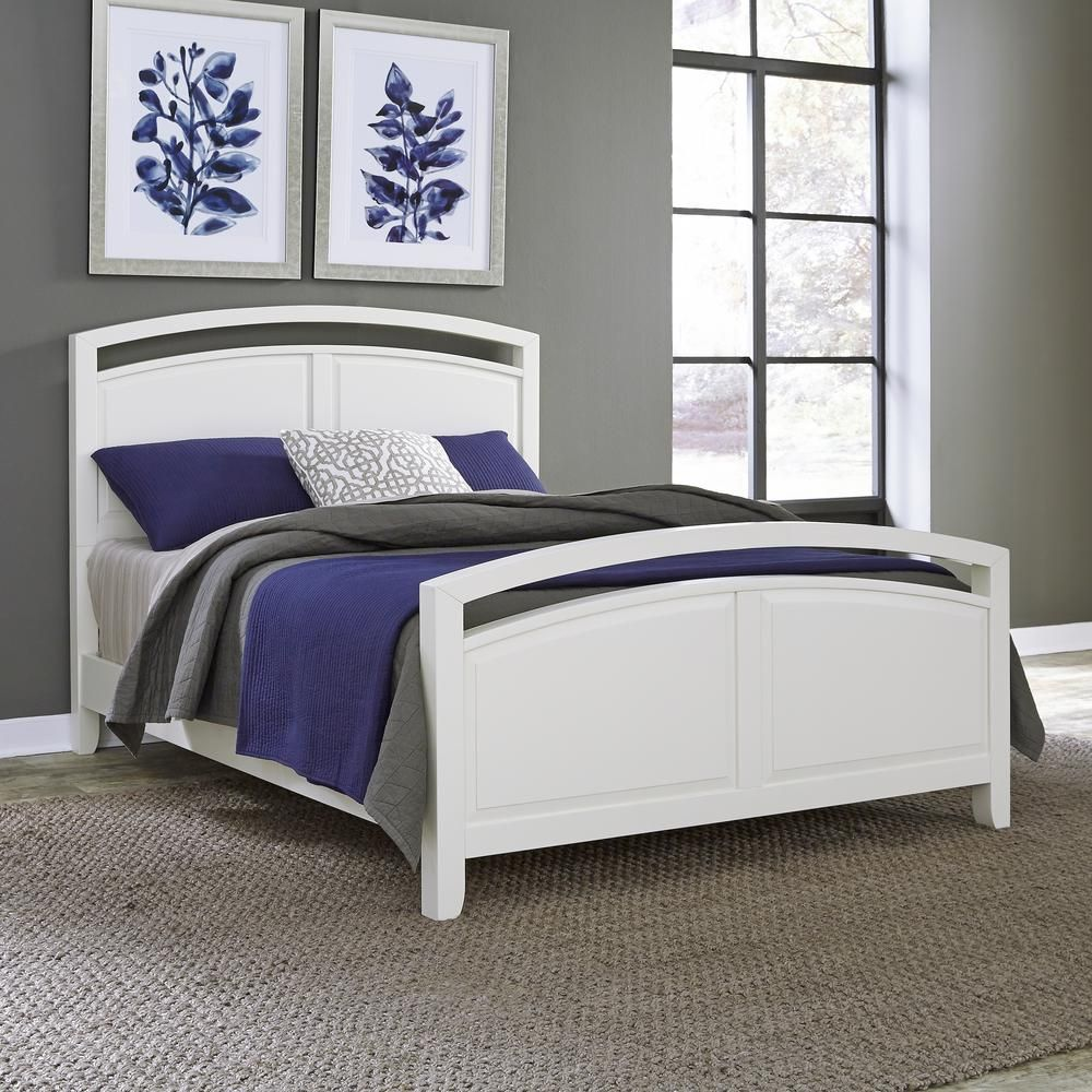 Home Styles Newport White Queen Bed Frame 5515 500 White Queen