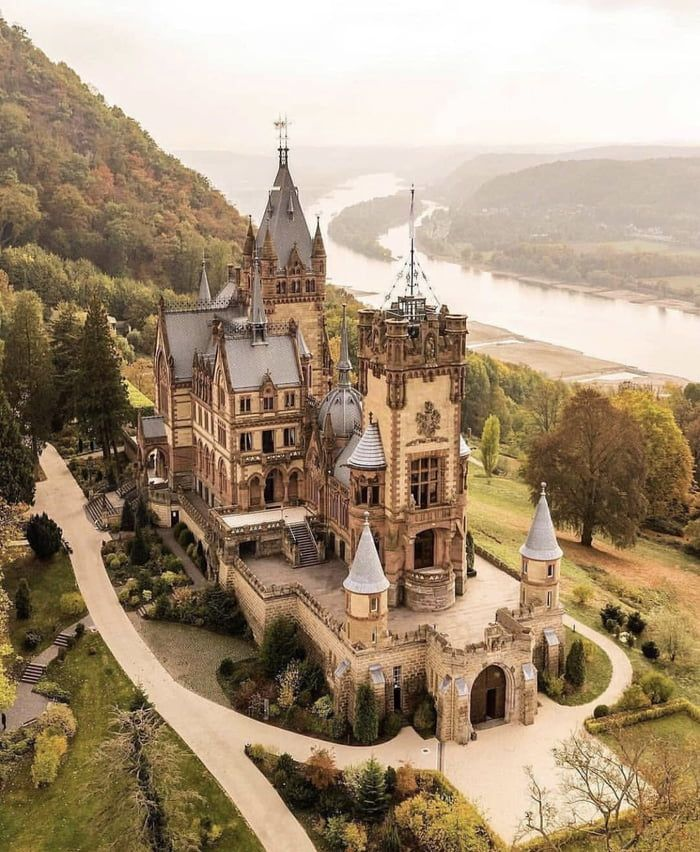 Picturesque Schloss Drachenburg castle in Germany