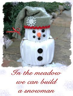 DIY Toilet Paper Snowman ~ cute idea