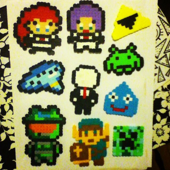 Video Game Perler Bead Sprites By Chkimbrough On Deviantart Perler
