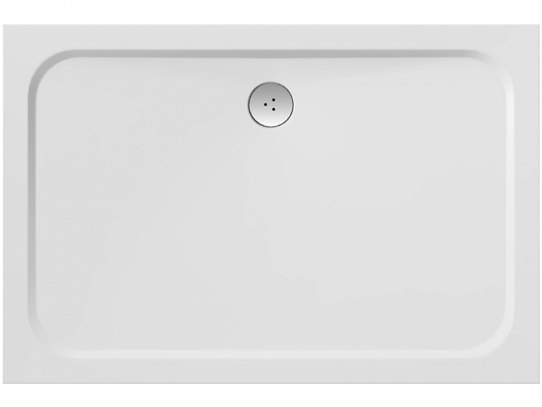Gussmarmor Duschwanne 110 x 80 x 1,5 cm Mineralguss