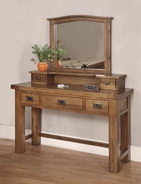Best Brooklyn Reclaimed Oak Dressing Table Mirror Oakfurniture 640 x 480