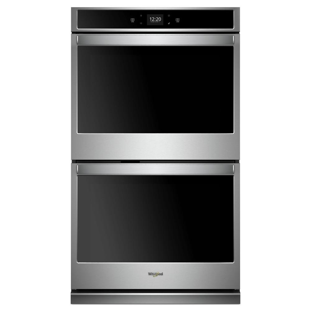 Whirlpool 30 In Smart Double Electric Wall Oven With Touchscreen In Black Wod51ec0hb The Home Depot Electric Wall Oven Double Electric Wall Oven Stainless Steel Oven