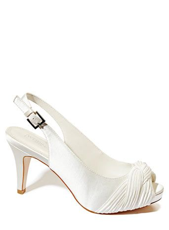 6b44ec59dd0 Ivory Wedding Collection Satin Pleat Detail Slingback Shoe - love the pleat  detail on these shoes