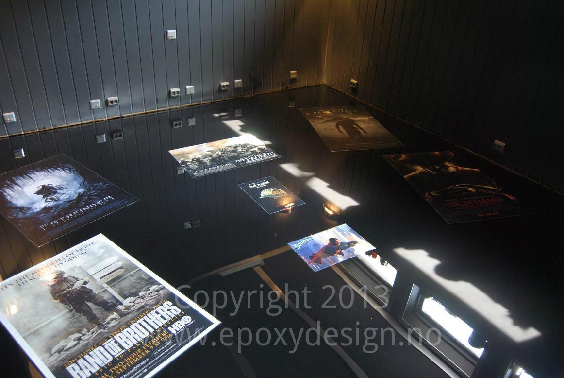 epoxy floor in home cinema