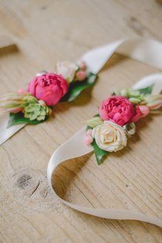colorful floral bracelet