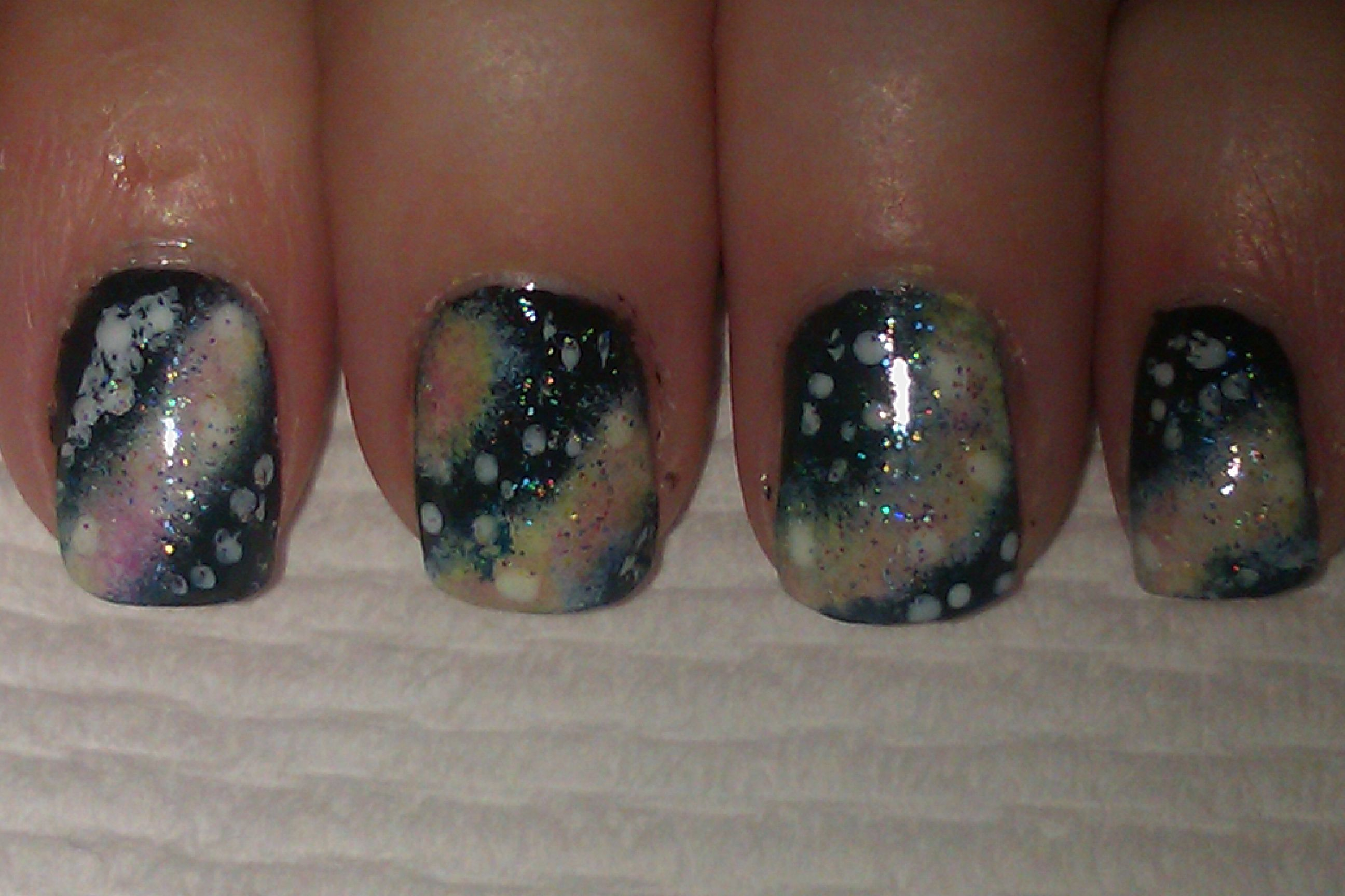 Universe Nail Art Diy Nail Art Pinterest