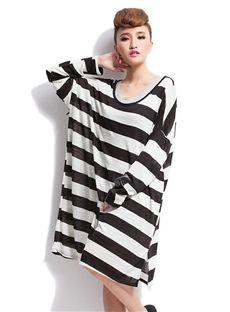 Striped maxi blouse