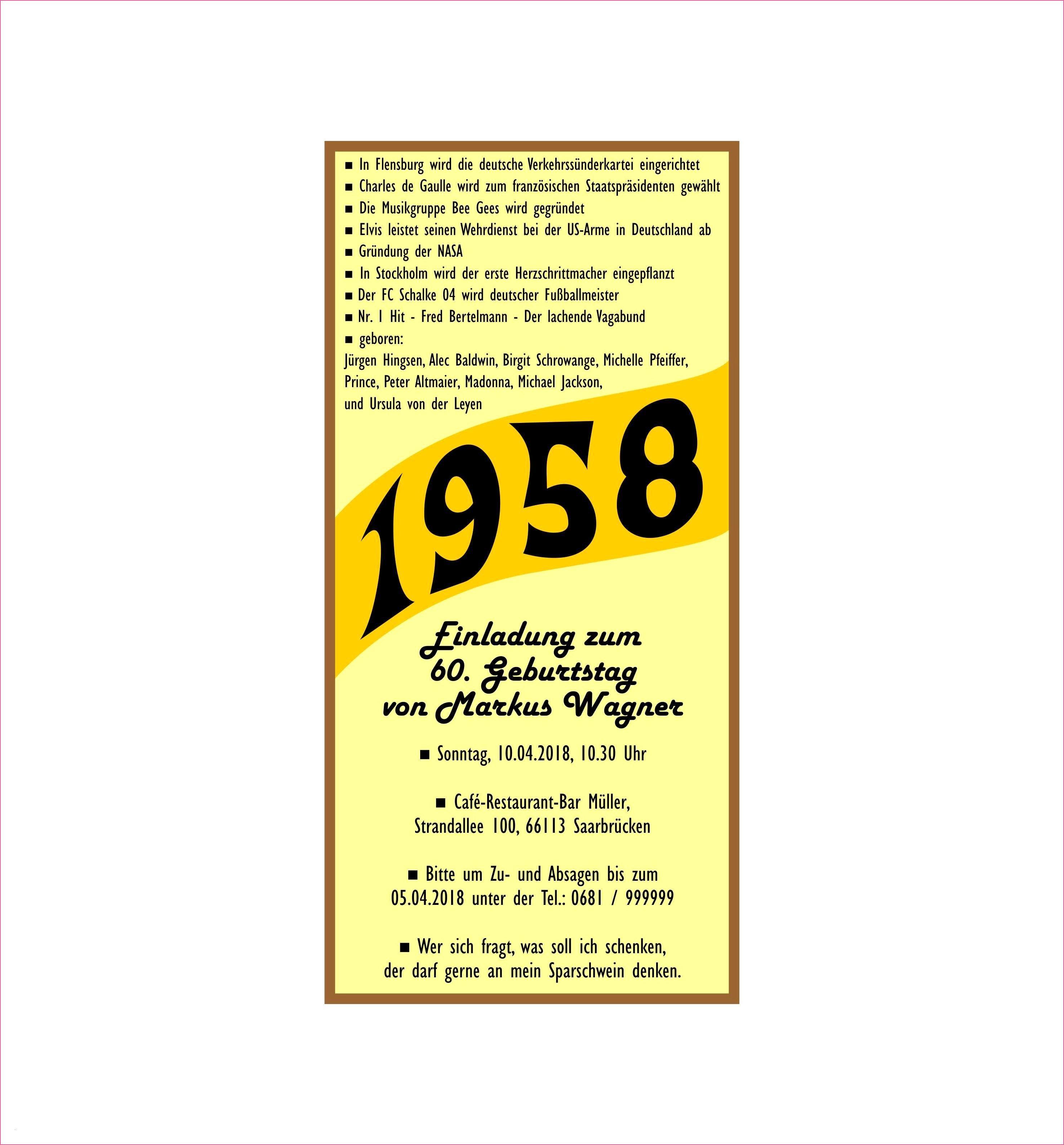 Einladung 60 Geburtstag Text In 2020 Einladung Geburtstag