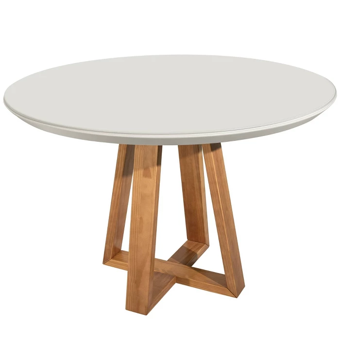 45 27 Duffy Round Dining Table Off White Manhattan Comfort