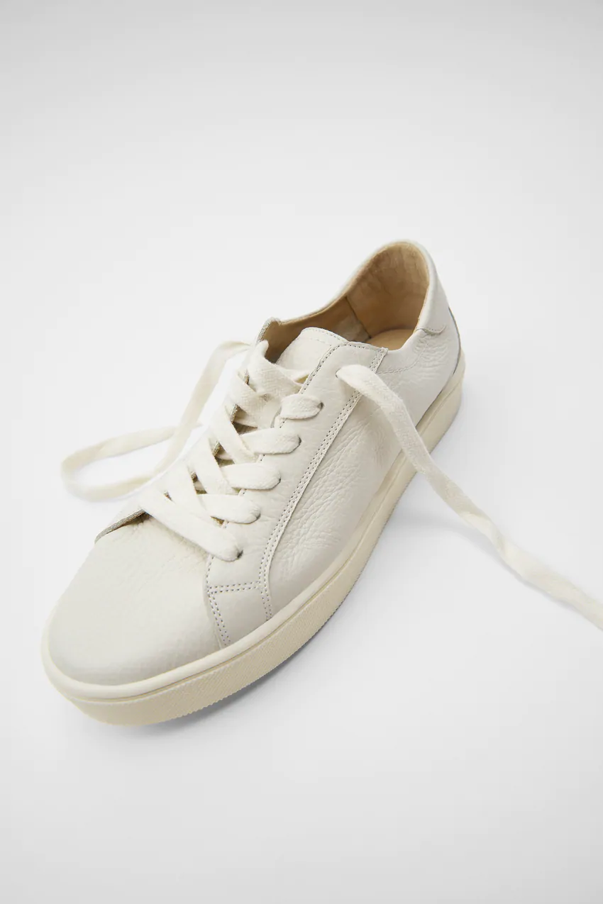 SOFT LEATHER SNEAKERS   ZARA Canada in