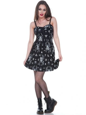 "Women's ""Spider Skull"" Sundress by Jawbreaker (Black) #inkedshop #spider #skull #sundress #fashion #style"