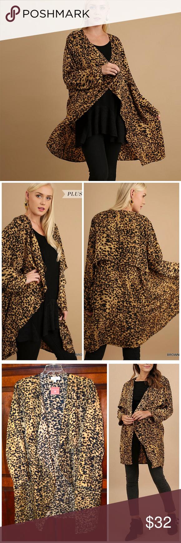 UMGEE   Leopard Print Open Draped Kimono Cardigan NWT | Kimonos ...