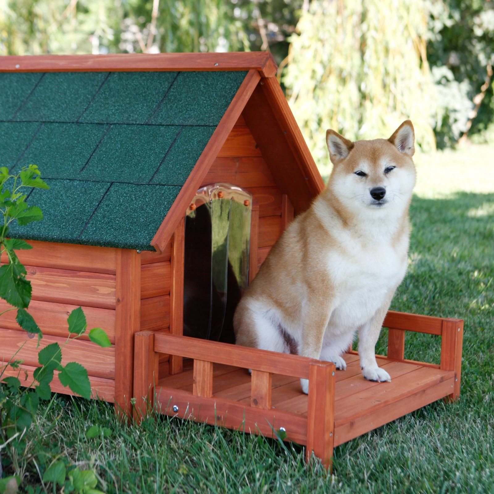 Ware Ultimate AFrame Dog House with Optional Patio & Door