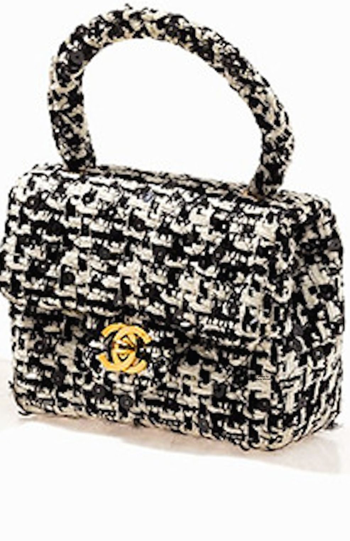 92d7fff47a85 Chanel ~ Tweed Bouche Classic Mini Flap Bag, c.1990 Chanel Handbags, Fashion