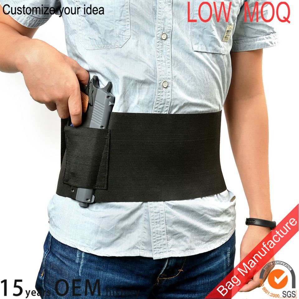 Tactical Elastic Concealed Carry Belly Band Waist Pistol Gun Holster Pouch QK
