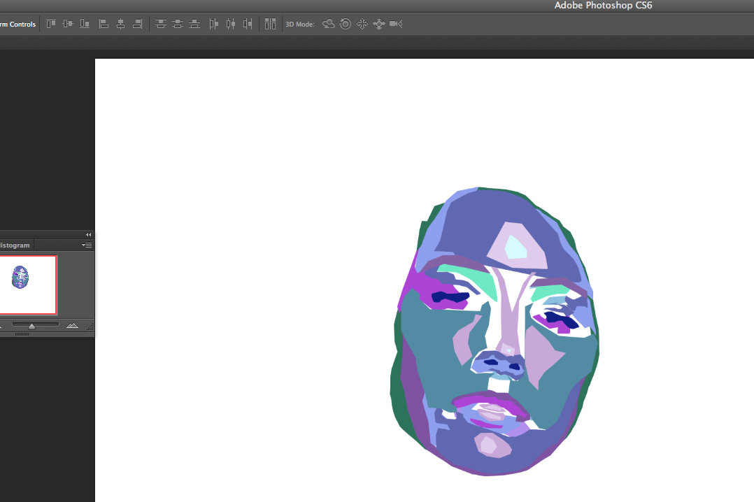 The beginnings of drawing the face