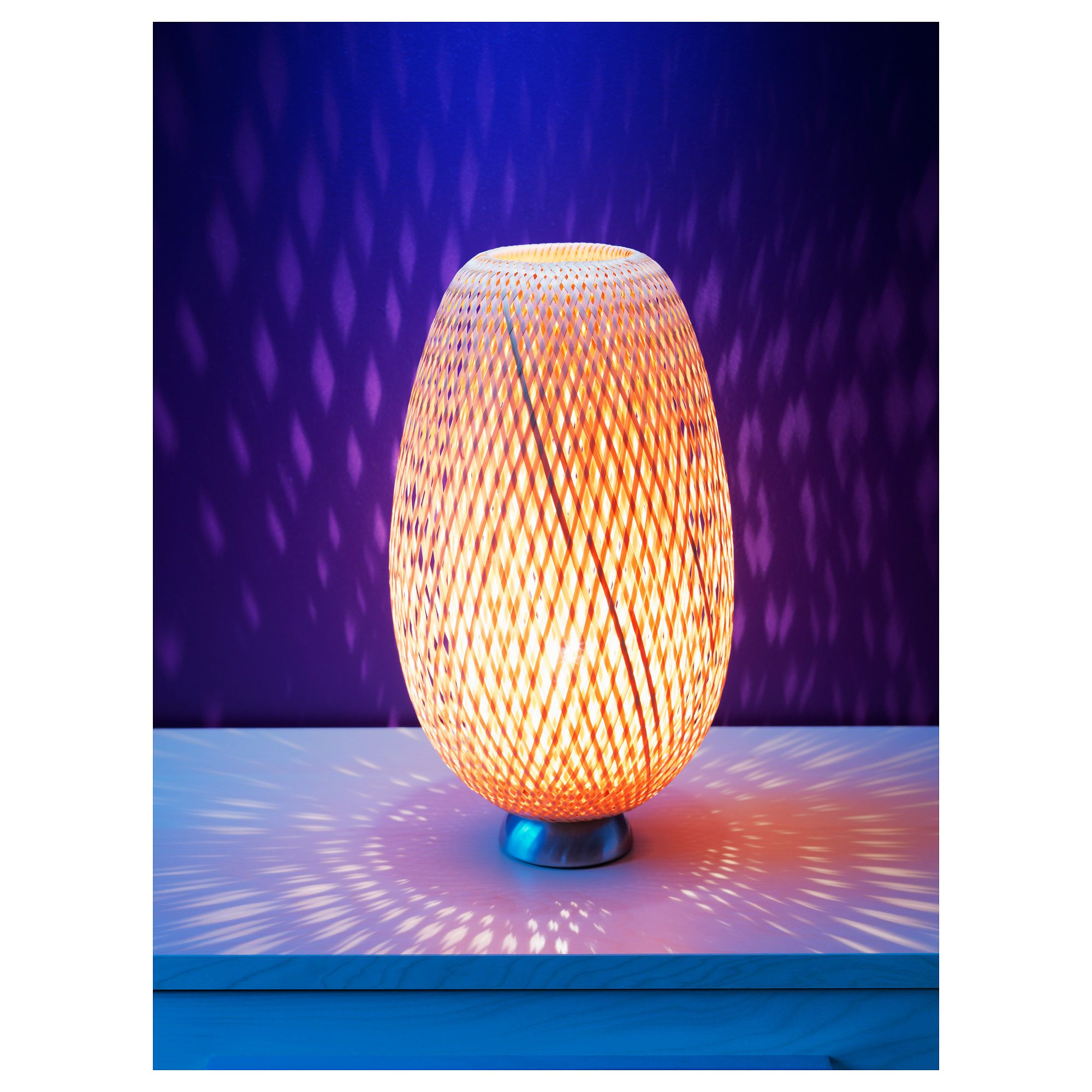 Bja table lamp nickel plated bamboo rattan bamboo art bja table lamp nickel plated bamboo rattan geotapseo Gallery