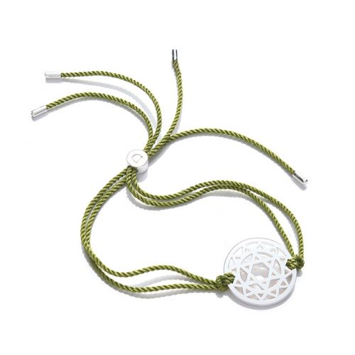 Www Hogiesonline Co Uk Sterling Silver Anahata The Heart Chakra Silk Green Cord Extendable Bracelet 38 99