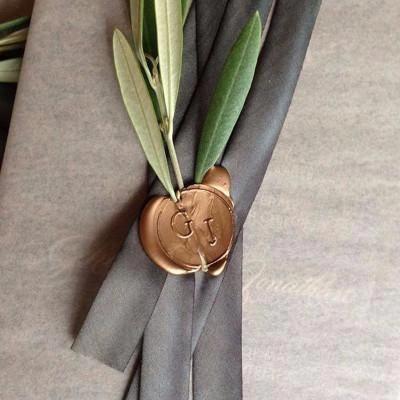 Photo of UNIQOOO Traditionelles geschnitztes Siegellack, Bronze