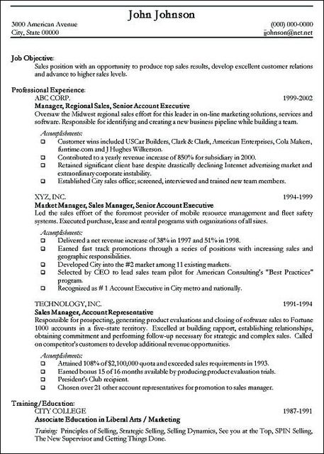resume examples (Resume and cover letter examples) Career - writing resume examples