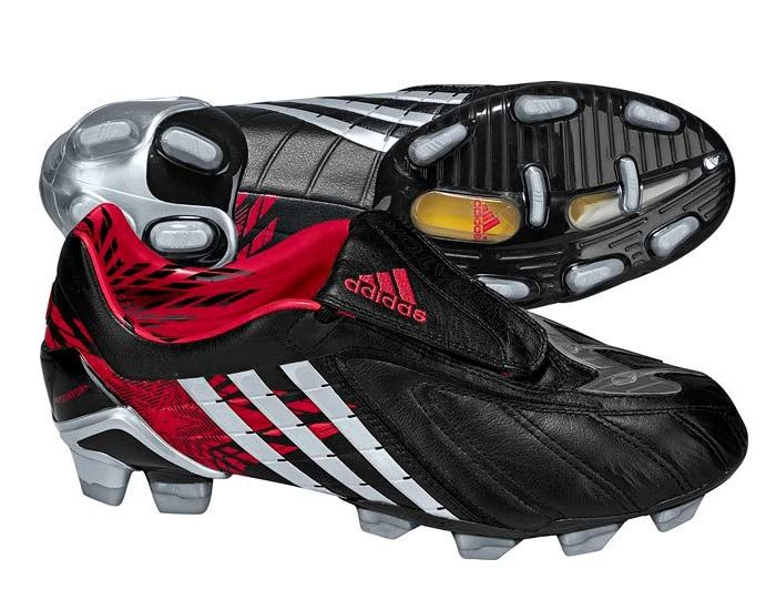 Adidas Predator Powerswerve Indoor Soccer Shoes - Black And Red Mens 9