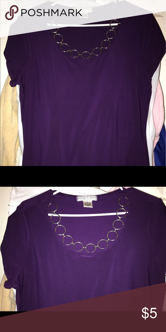 Purple Blouse Very fresh & lightweight Vintage Suzie Tops Blouses