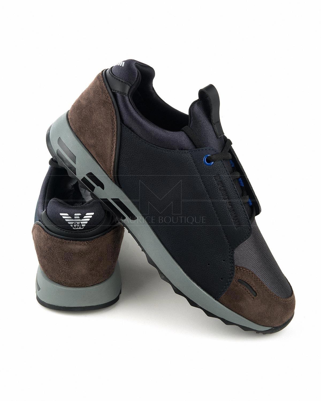 1617318ed10 Zapatillas EMPORIO ARMANI ® Azul   Visón - XL457