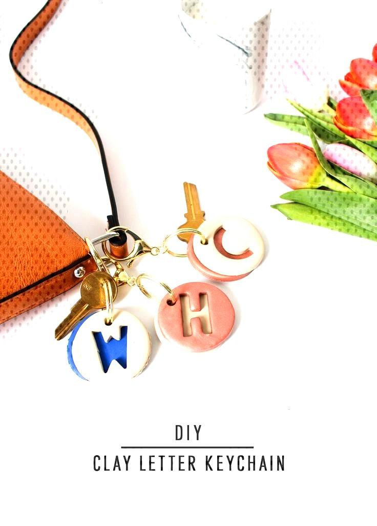 DIY Clay Letter Keychain | Sugar & Cloth DIY Accessories -  DIY clay letter keychain by Sugar & Cl