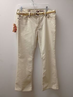10 NWT Abercrombie and Fitch Cream Cordoruys