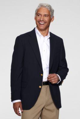 men's hopsack blazer from lands' end  men dress mens