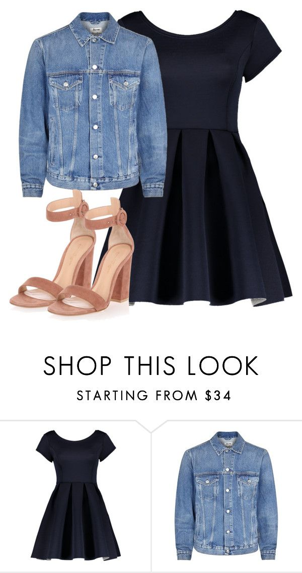 """n jjknjknkj"" by v-askerova on Polyvore featuring мода, Acne Studios и Gianvito Rossi"